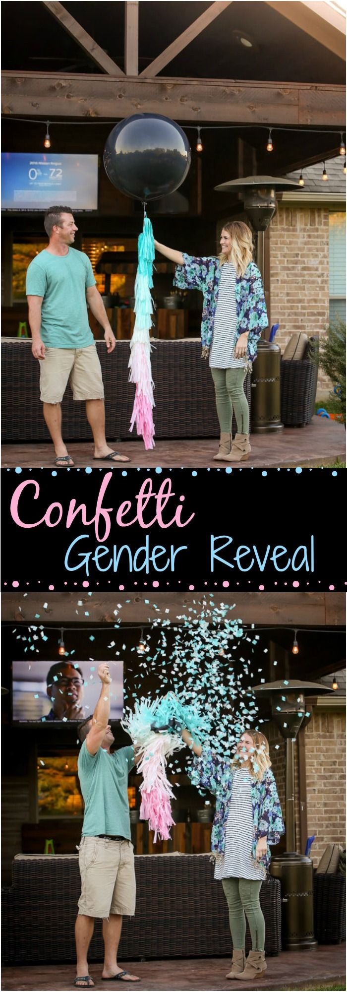 If we have another baby, we would think about using balloons and confetti as one of our gender reveal ideas! We used a golf ball last time and the excitement and anticipation was so much fun ...#afflink #genderreveal #genderrevealparty #genderrevealideas #babygirl #babyboy #pregnancy #partyplanning