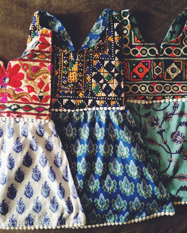 Bohemian baby dress is handmade using vintage banjara fabric and organic light weight cotton. This beautiful one of a kind dress will make a beautiful piece to add to your collection as well as a great keepsake to pass down. Bib top:Made using vintage banjara woven fabrics. Skirt: Organic hand block printed cotton pareo printed with vegetable dyes. Sizing:Care: Hand wash, hang dry....