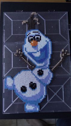 Olaf from Frozen in perler beads by Haive135 on DeviantArt