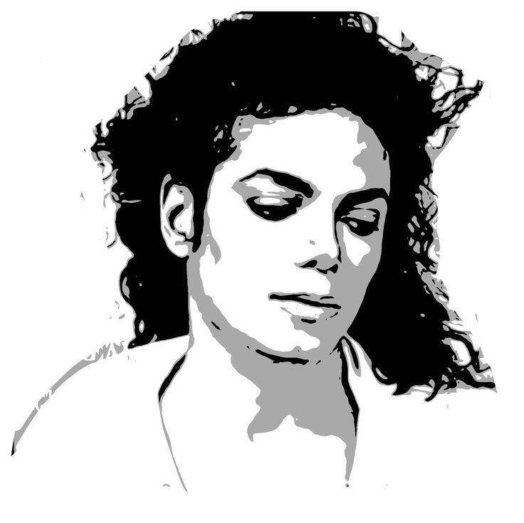 майкл джексон черно белый рисунок высокий индекс вязкости
