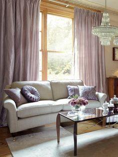 les plus beaux rideaux occultant de couleur violet pale, rideaux ikea