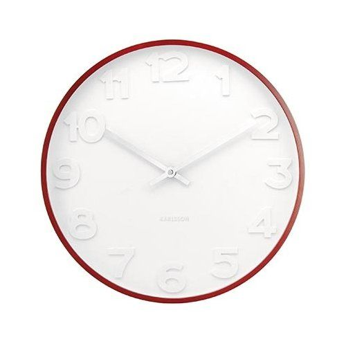 Karlsson Mr White Wood Wall Clock 51cm - Natural Wood