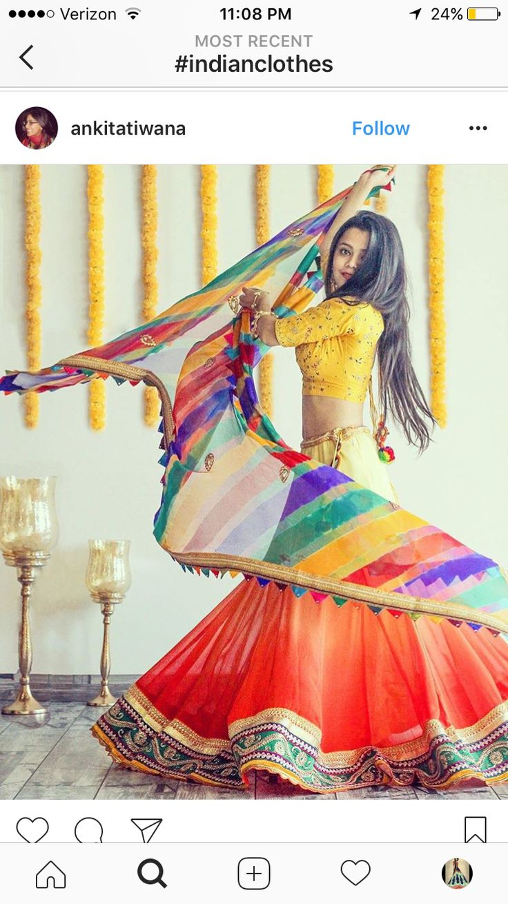 Beautiful, Colorful #IndianFashion #Lehenga / Ghagra -akshu via @topupyourtrip