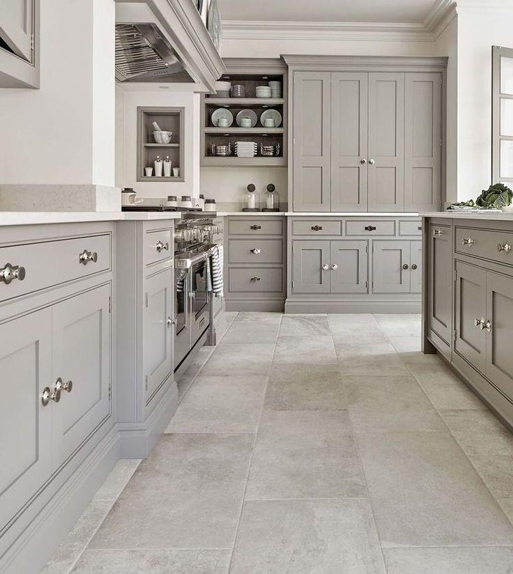 23 White Kitchens Without Wood Floors Down Leah S Lane Grey Kitchen Designs Classy Kitchen Kitchen Cabinet Design