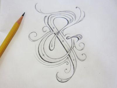 art nouveau ampersand.