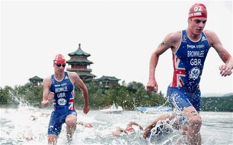 Team GB triathletes Jonathan and Alistair Brownlee