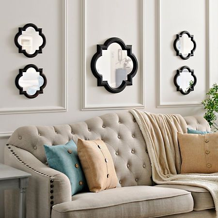 Bronze Quatrefoil Mirrors, Set of 5 | Kirklands