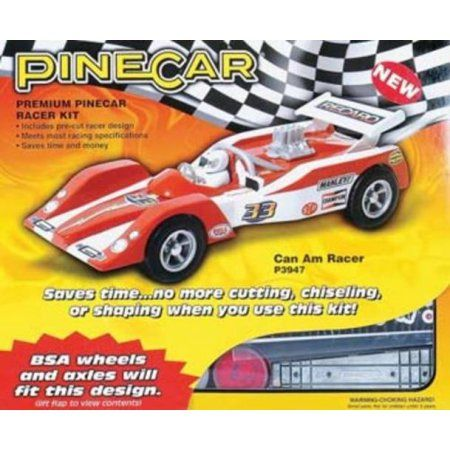 Pine Car Derby Racer Kit, Can Am, Multicolor