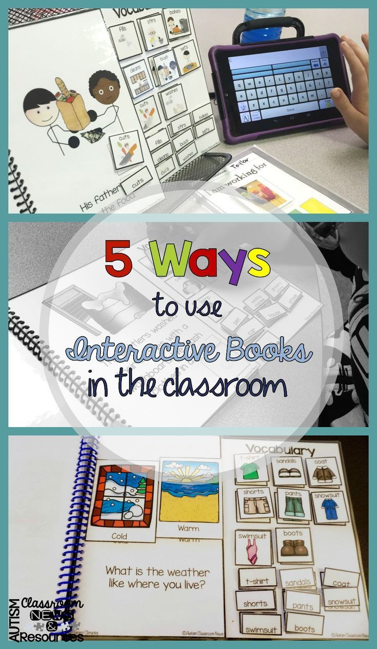 5 Ways to Use Interactive Books in the Classroom has ideas about how interactive books can be helpful in the special education classroom in many different ways.