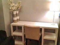 Глянцевый рабочий стол из столиков ЛАКК