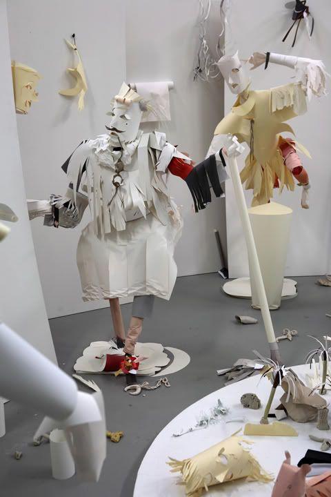 Contemporary Dutch artist Karen Sargsyan creates awesome sculptures from cut paper. Fun stuff.