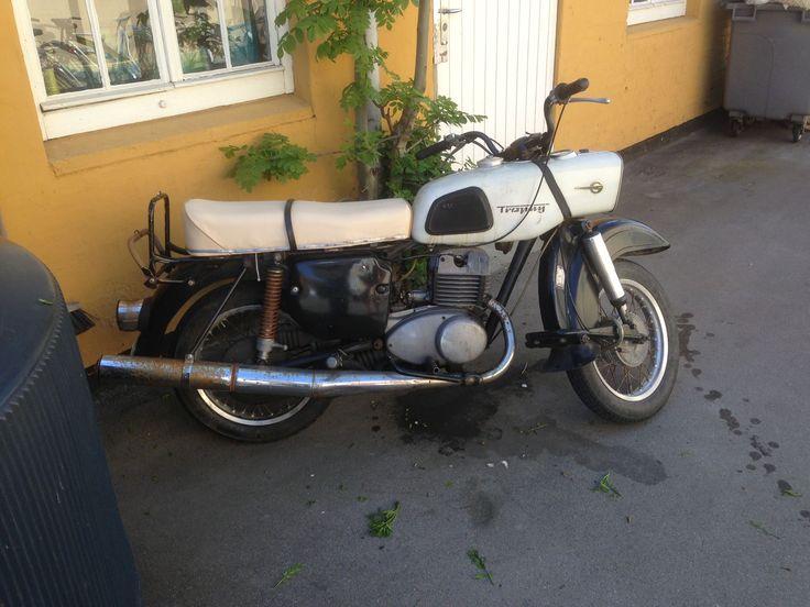 Trophy motorbike. Seen in Christiana, Kobenhavn
