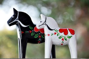 """Love"" was commissioned by the Wooden Horse Museum Sweden as a wedding gift to Swedish Crown Princess Victoria and Prince Daniel upon their marriage on June 19, 2010."