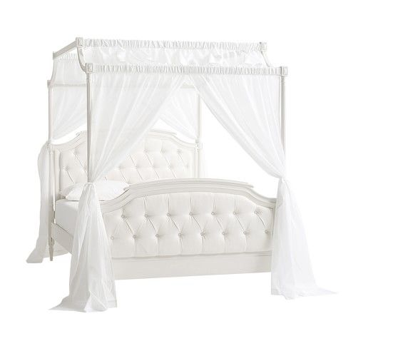 Blythe Tufted Canopy Bed #pbkids
