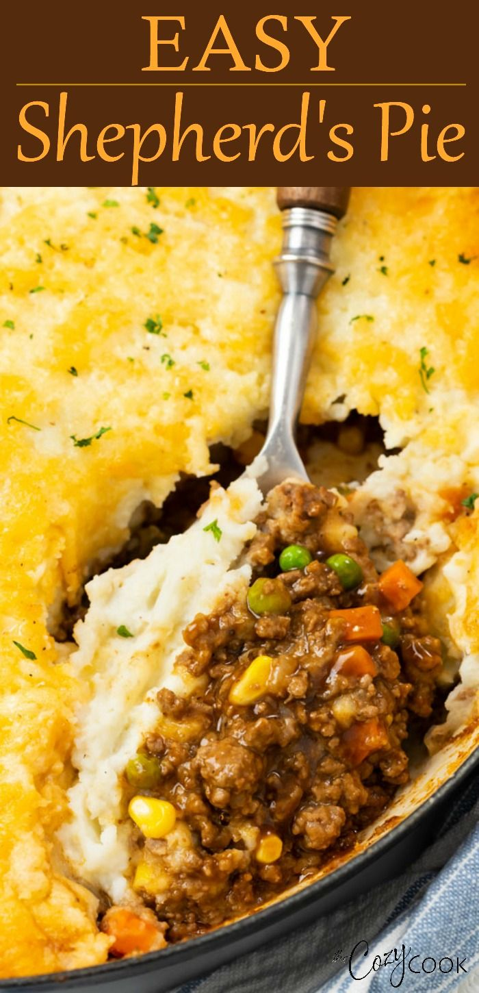 Easy Shepherd S Pie In 2020 Ground Beef Recipes For Dinner Shepherds Pie Recipe Easy Ground Beef Recipes Easy