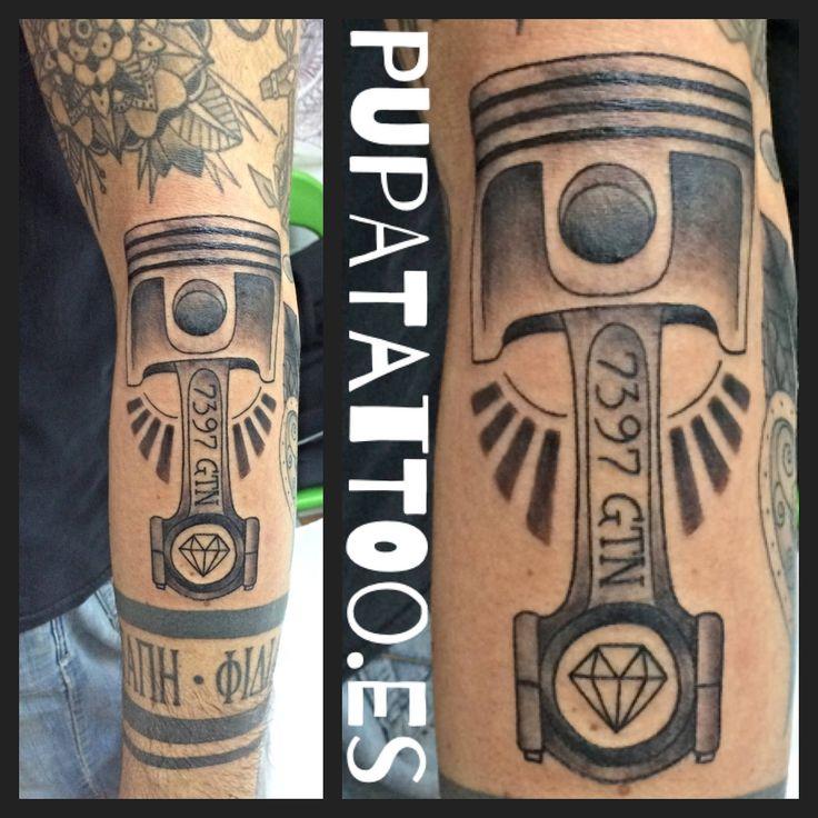 https://flic.kr/p/QNBbUE | Tatuaje Pistón Pupa Tattoo Granada | instagram : instagram.com/pupa_tattoo/  Web: www.pupatattoo.es/  Citas: 958221280  #tattoo #tattoos #tatuaje #tatuajes #tattoogranada #ink #inked #inkaddict #timetattoo #tattooart #tattooartists