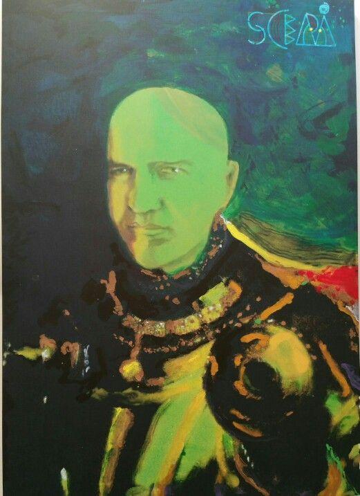 Ritratto realizzato e donato motu proprio dall'artista Franco Scepi a Marco Eugenio Di Giandomenico nell'occasione del cinquantesimo compleanno  (Milano, 15 novembre 2015)
