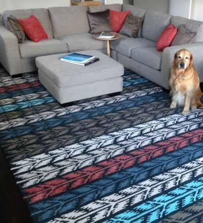 Check out a custom colour and size KAS Scythia rug!! Well done Anne-Marie from Fuchsia Interiors, the colours look great!! #TheRugCollection