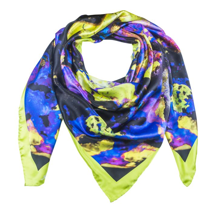 Indus Neo 2 - Yellow Silk Scarf - Neo Collection – Silk and Stone
