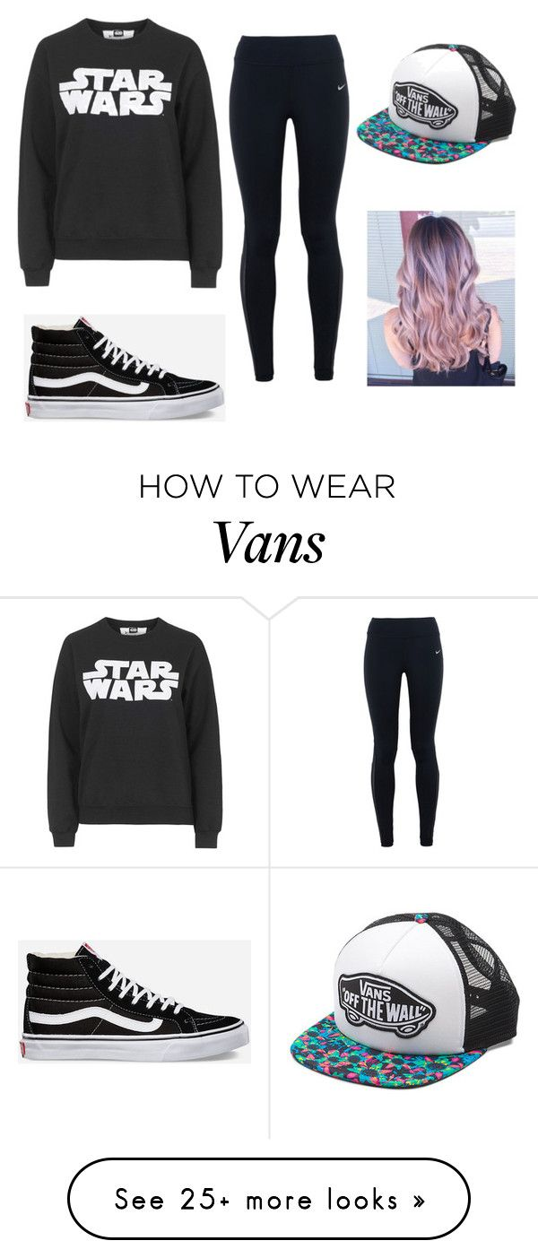 """The lazy hipster"" by emmamarino1 on Polyvore featuring Topshop, NIKE, Vans, women's clothing, women, female, woman, misses and juniors"