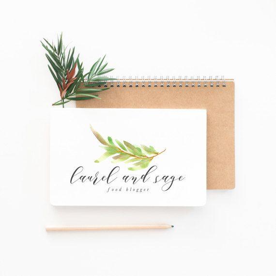 Premade Logo diseño | Acuarela Floral Logo | Logo de caligrafía | Logo de fotografía | Blogger Logo de alimentos | Logo de la pequeña empresa (014)