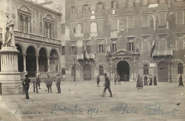 Verona - Piazza Dante - novembre 1917