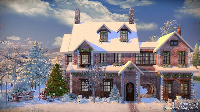 "Sims 4 CC's - The Best: House ""Winter Flowers"" by Frau Engel"