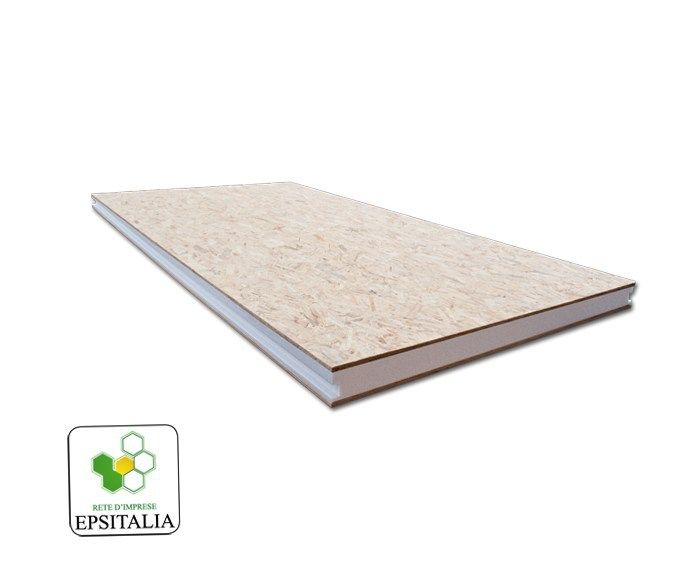Thermal insulation panel ISOWOOD SANDWICH by S.T.S. POLISTIROLI