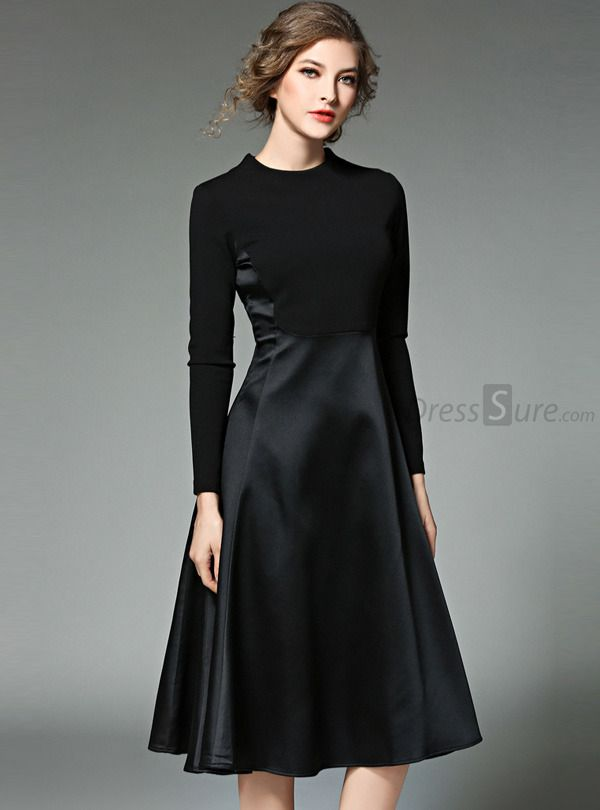 478a6aa71e4 Buy Brief Nipped Waist Patchwork Skater Dress with High Quality and Lovely  Service at DressSure.com