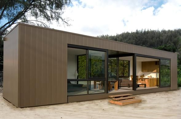 Almost perfect modern siding match to current vertical redwood. Marmol Radziner rincon series.