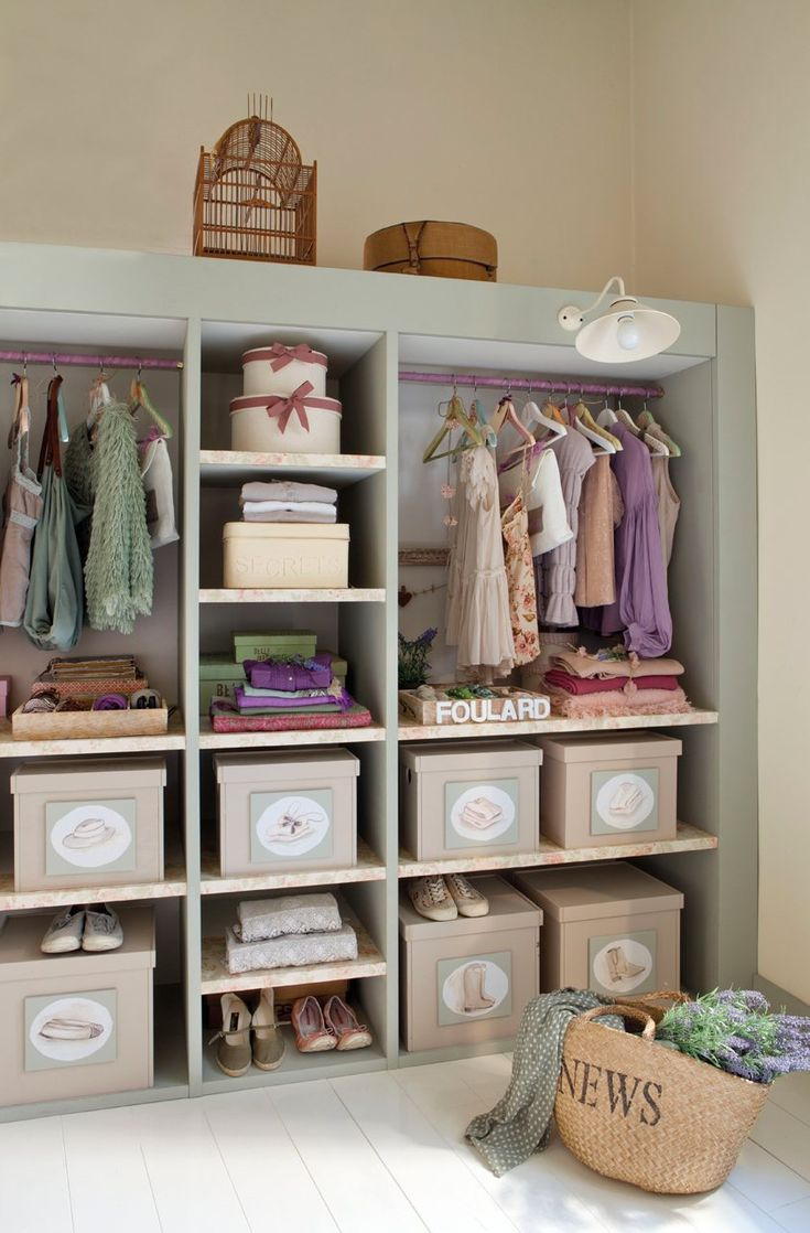Organiser l'armoire d'une enfant de 12 ans... un exemple