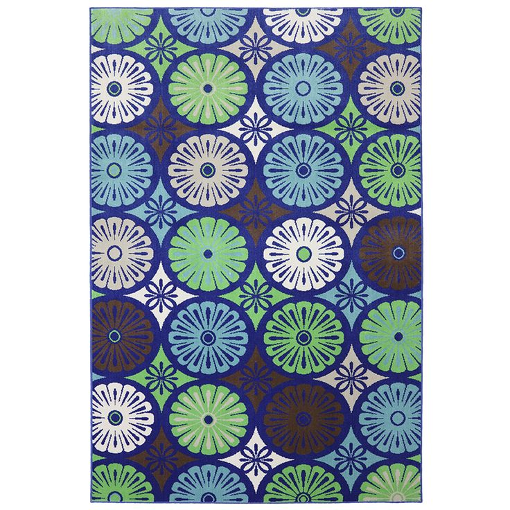 Its Outdoor..use Indoors? Shop Mohawk Home Penny Loafer Rectangular Blue  Floral Outdoor · Indoor Outdoor RugsOutdoor ...