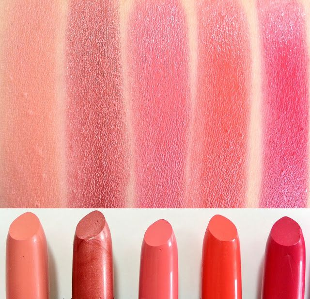 Elf Studio Moisturizing Lipsticks L R Party In The Buff Cheeky Pink Minx C Cutie Rosy Go Round M A K E U P S W T H