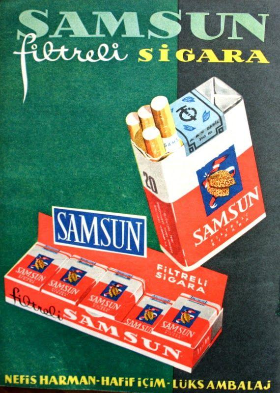 OĞUZ TOPOĞLU : samsun filtreli sigara 1959 nostaljik eski reklaml...