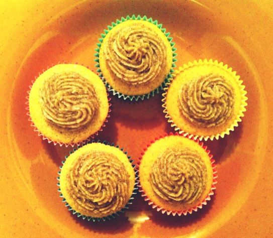 made pumpkin cupcakes to calm myself down from a shocking news