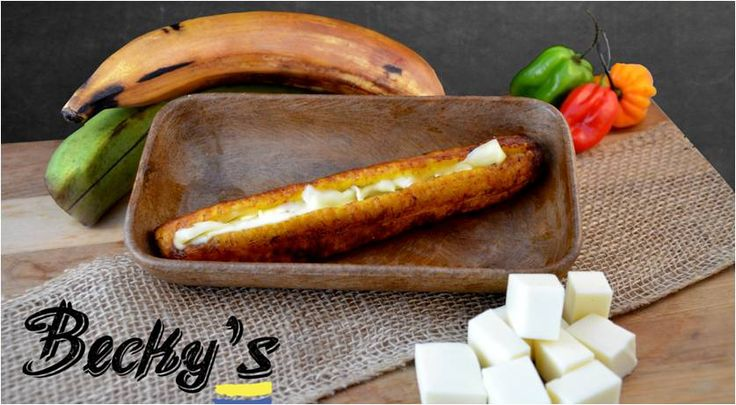 You are the only one who can check the delicious taste of this sweet plantain with mozarella cheese.
