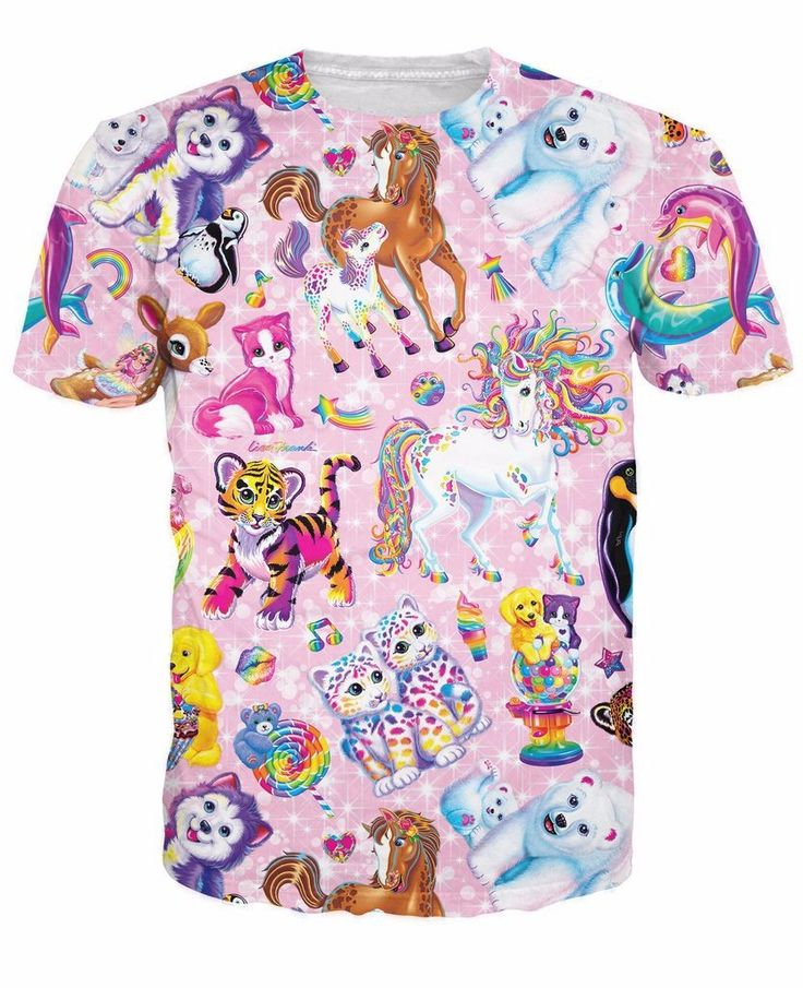 Cute Animals Collection Adorable Pinky Rainbow 3D Full Print T-shirt #Cute #Animals #Collection #Adorable #Pinky #Rainbow #3D #Full #Print #Tshirt