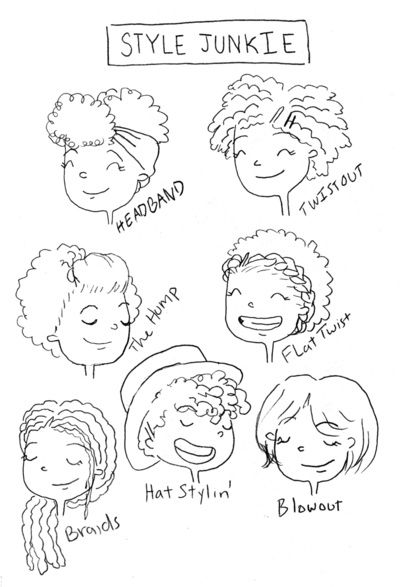 'Natural hairstyle junkie' by Sharee Miller. I love all of these hairstyles!