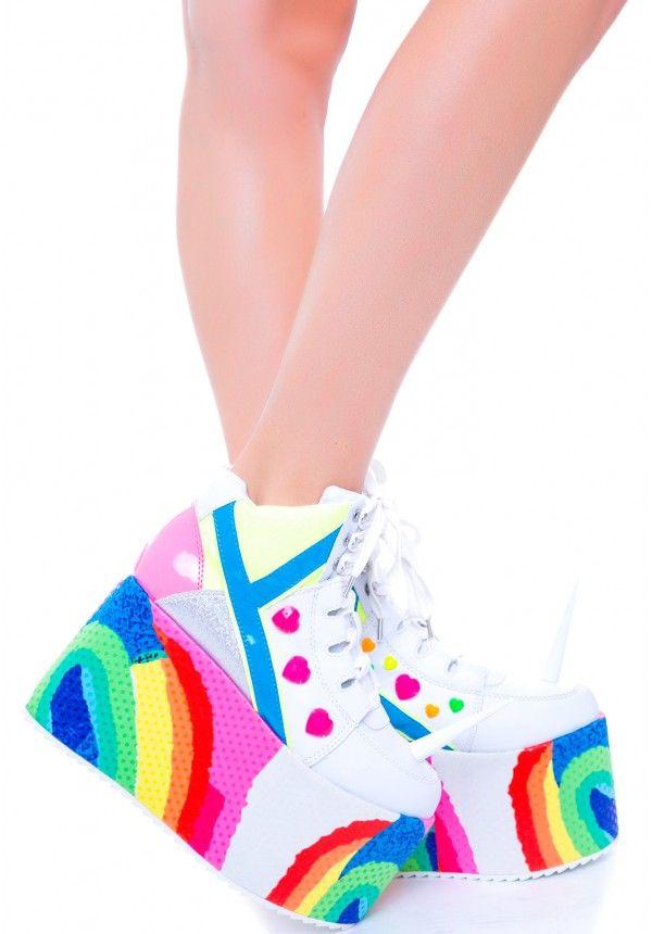 The shoes my wildest fantasies r made of.  Y.R.U. Qozmo Unicorn | Dolls Kill