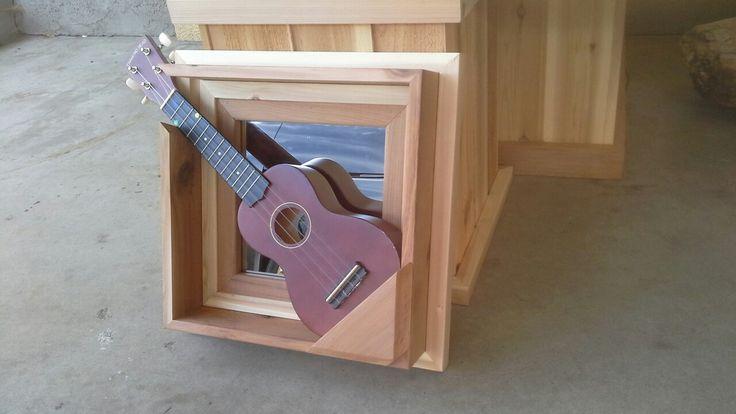 Ukulele/Mandolin wall hanger, mirror.