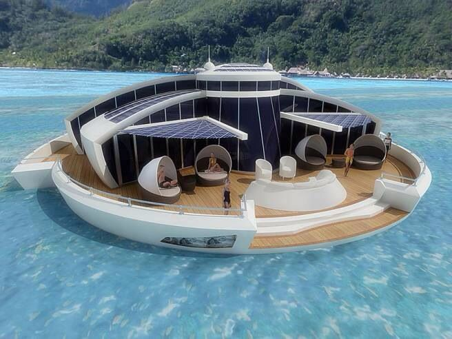 Best House Boat Maison Flottante Images On Pinterest - Awesome floating house shore vista boat dock by bercy chen studio