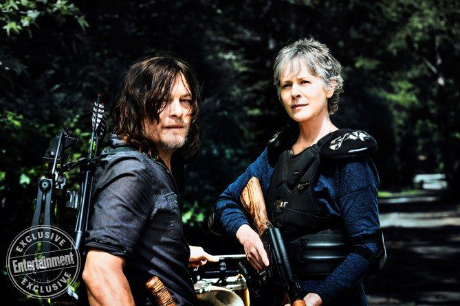 We've got your exclusive new pics of Richonne, Daryl, Carol, Negan's army, and more!
