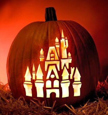 Halloween Every Day: Free Disney Pumpkin Stencils. Love this one of Cinderella's castle.