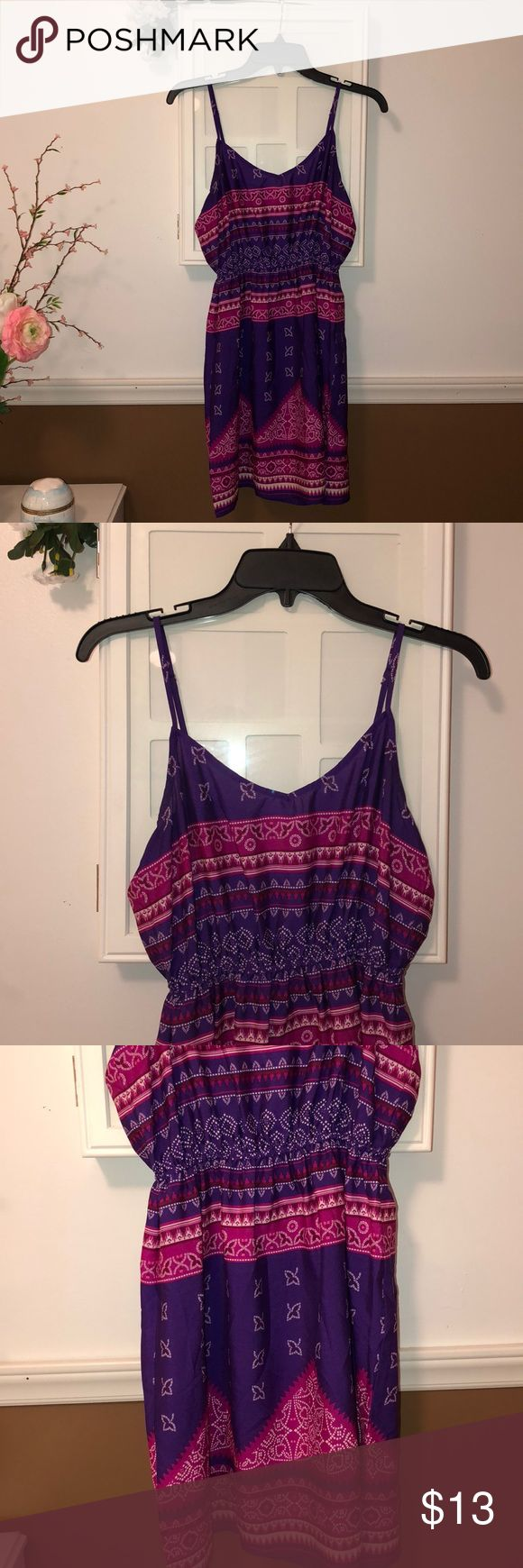 pink and purple sundress pink and purple sundress, adjustable straps, winches at the waist, size S, never worn Dresses