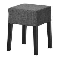 NILS Stool, black, Skiftebo dark gray - IKEA