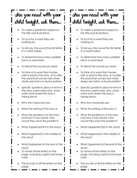 Family Reading Comprehension Bookmarks - TPT Freebie
