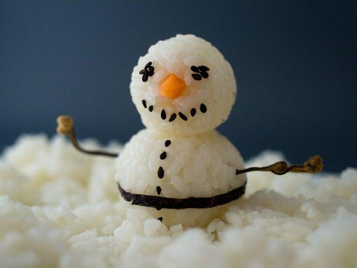 Bonhomme de neige en riz back to childhood pinterest - Pinterest bonhomme de neige ...