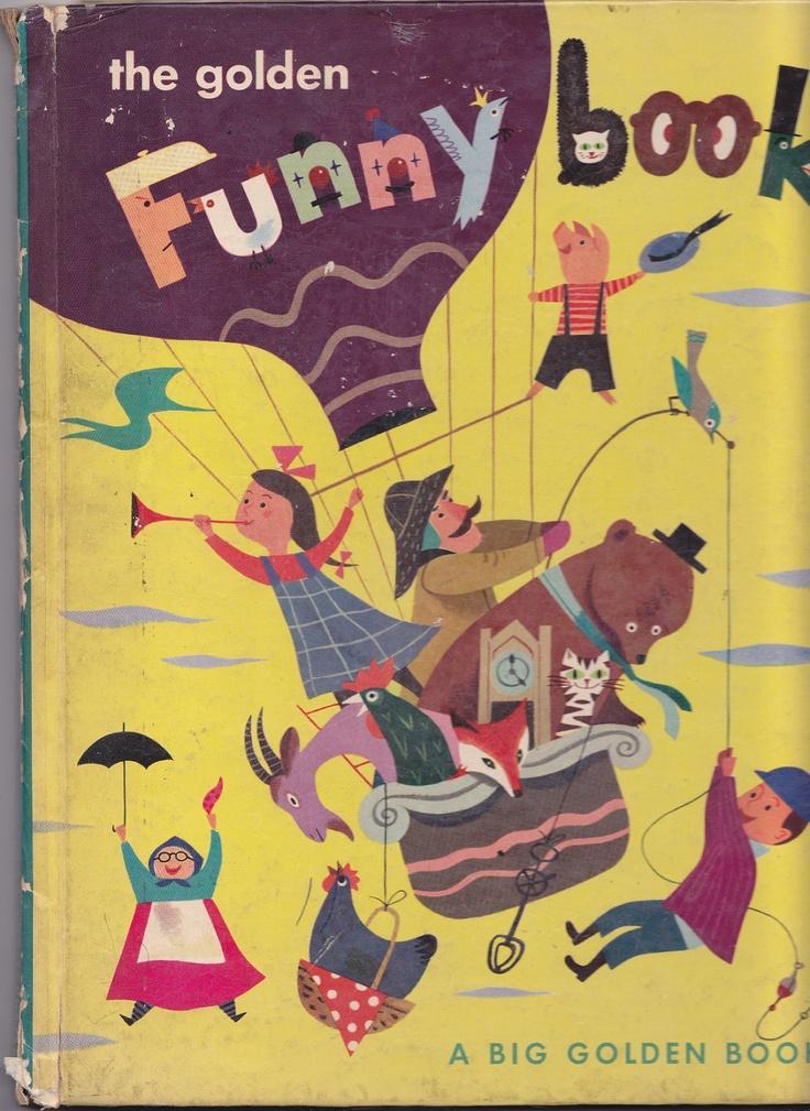 The Golden Funny Book - A Big Golden Book - 1950 First Edition - Illustrations by J. P. Miller - Disney Illustrator. $25.00, via Etsy.