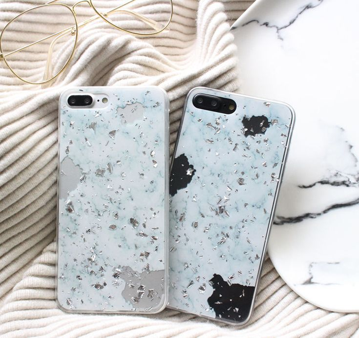 Buy Hachi Marble Glitter Mobile Case - iPhone X / 8 / 8 Plus / 7 / 7 Plus / 6s / 6s Plus | YesStyle