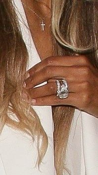 Newlywed Ciara Pairs Her Engagement Ring With 2 Mega-Sparkly Wedding Bands | Celebrity Engagement Rings